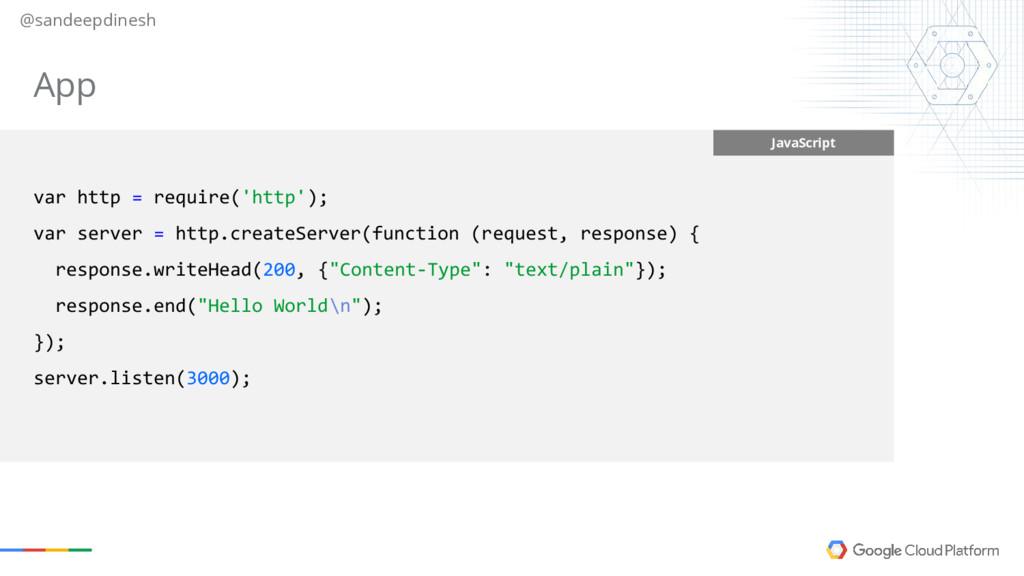 @sandeepdinesh JavaScript var http = require('h...