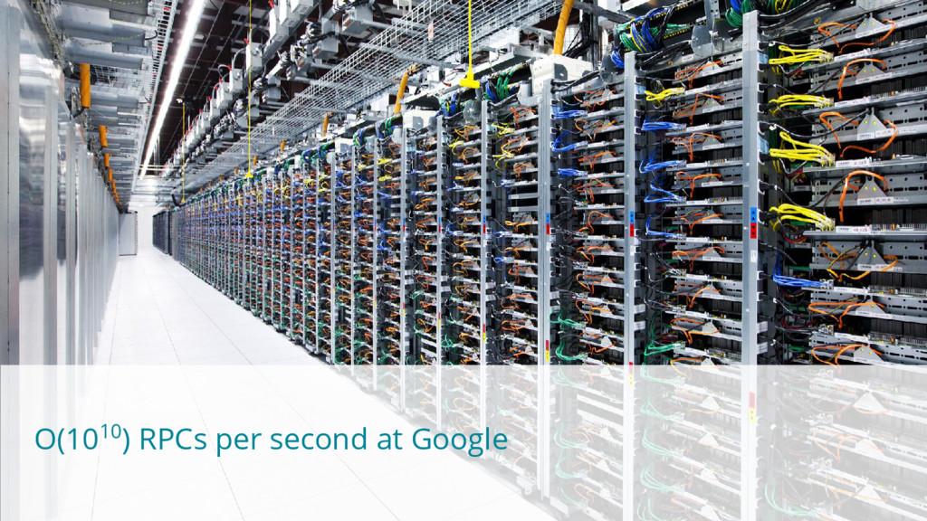 O(1010) RPCs per second at Google