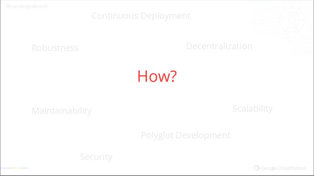 @sandeepdinesh Why Microservices? Scalability S...