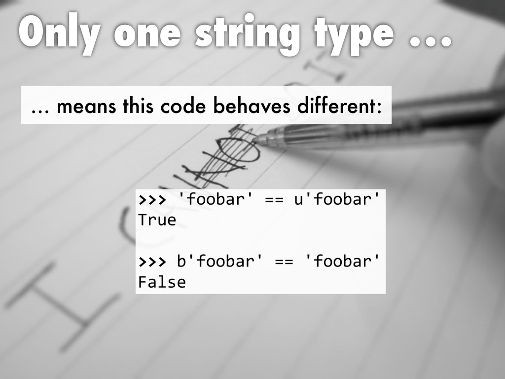 … means this code behaves different: Only one s...