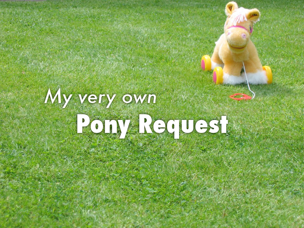 Pony Request My very own