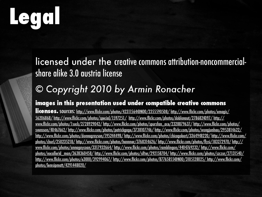 Legal licensed under the creative commons attri...