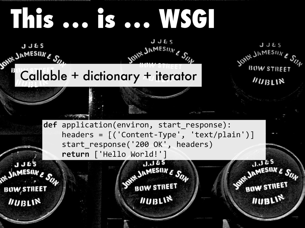 Callable + dictionary + iterator This … is … WS...