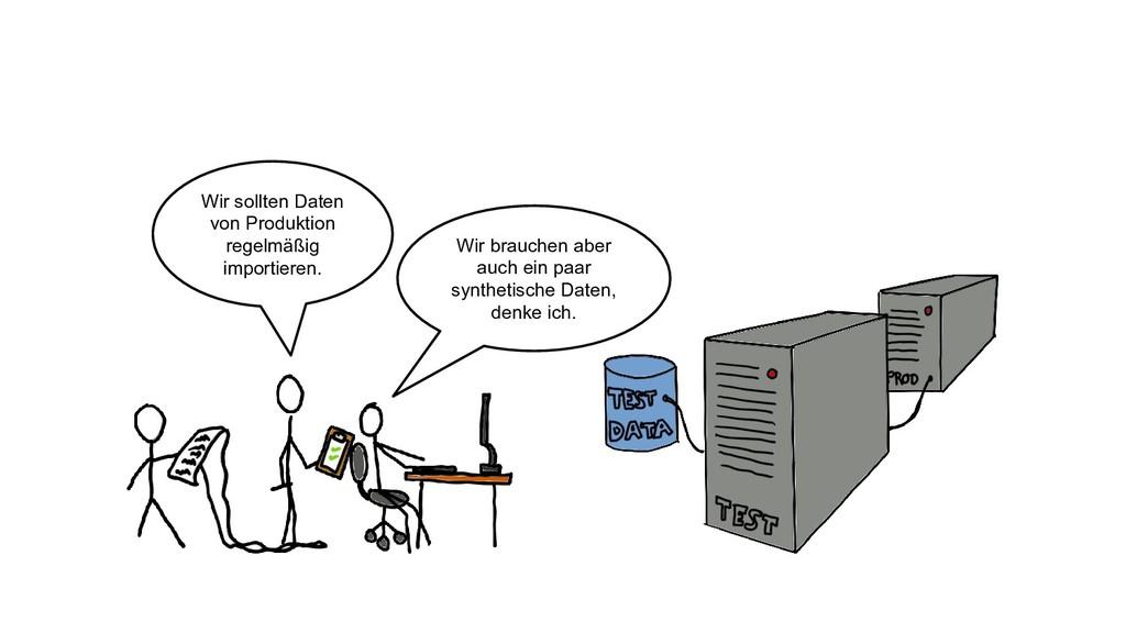 Wir sollten Daten von Produktion regelmäßig imp...