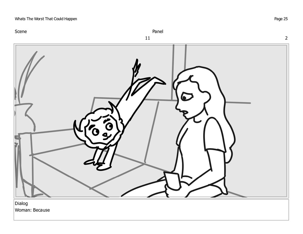 Scene 11 Panel 2 Dialog Woman: Because Whats Th...