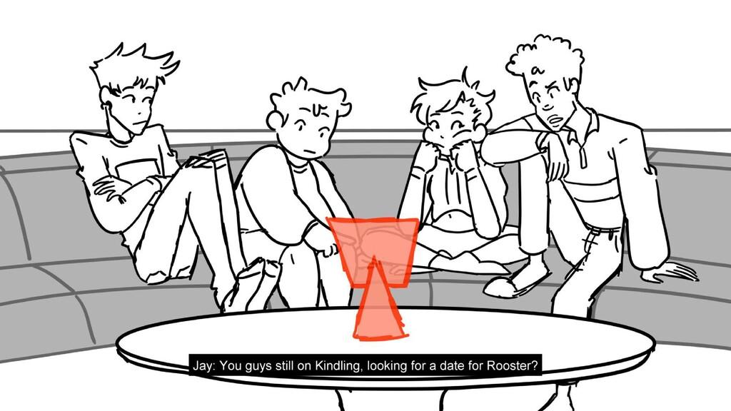 Scene 1 Panel 12 Dialog Jay: You guys still on ...