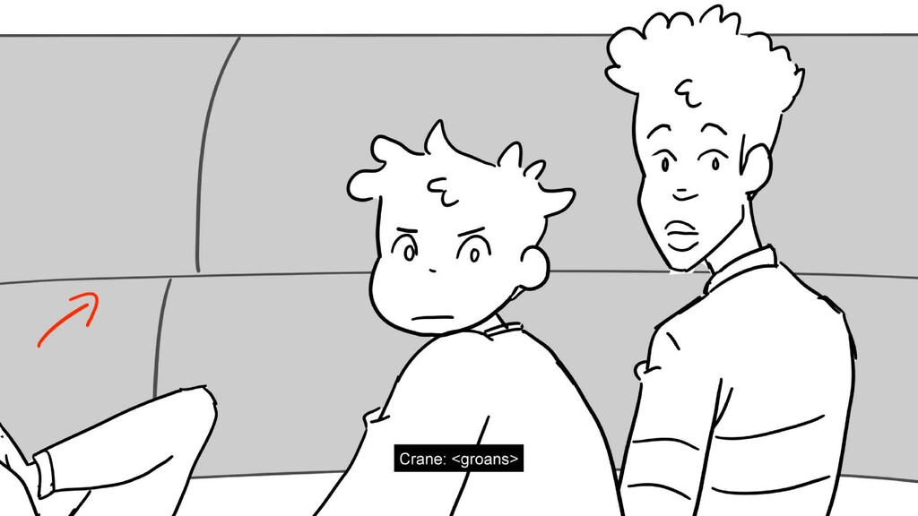 Scene 20 Panel 3 Dialog Crane: <groans> Page 12...