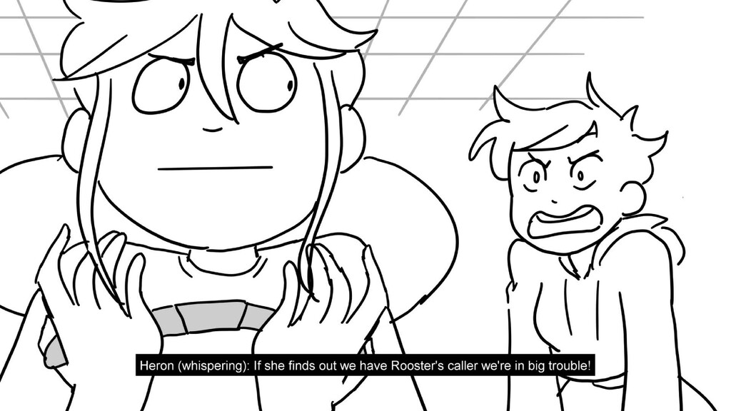 Scene 21 Panel 5 Dialog Heron (whispering): If ...