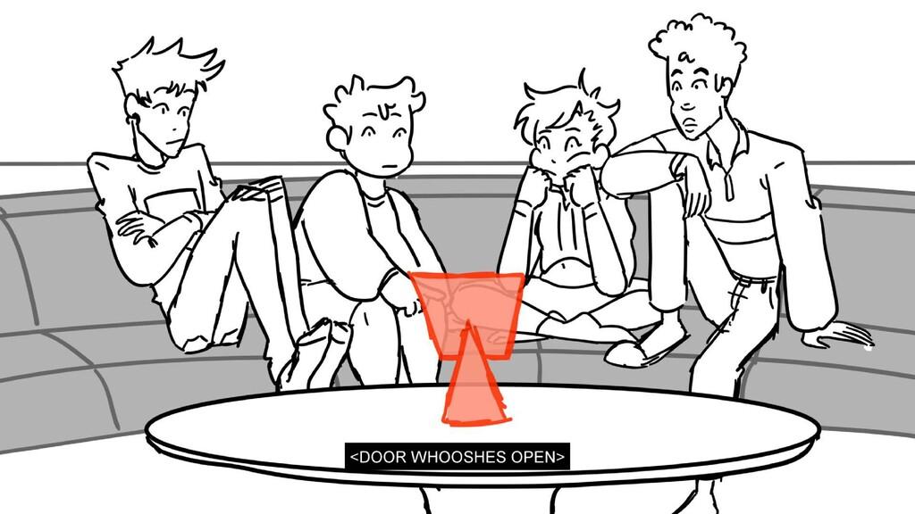 Scene 3 Panel 2 Dialog <DOOR WHOOSHES OPEN> Pag...