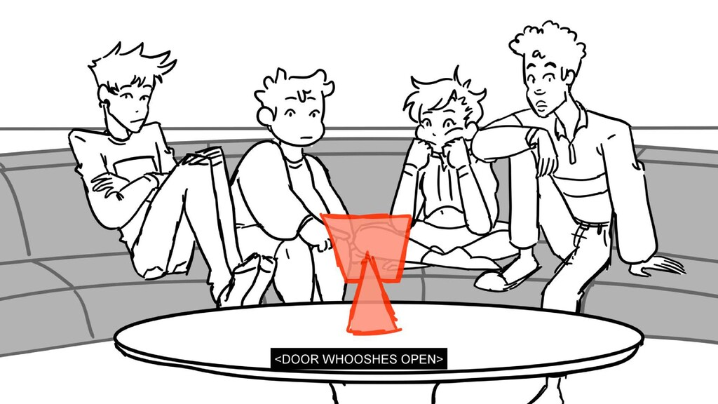 Scene 3 Panel 3 Dialog <DOOR WHOOSHES OPEN> Pag...