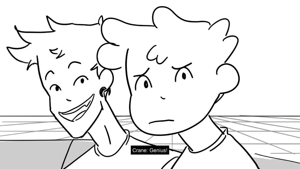 Scene 8 Panel 1 Dialog Crane: Genius! Page 55/1...