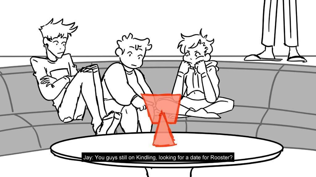 Scene 1 Panel 8 Dialog Jay: You guys still on K...