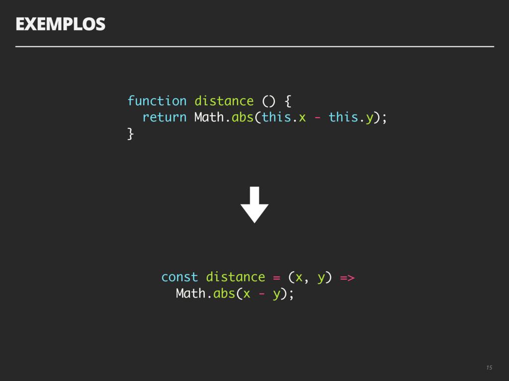 EXEMPLOS 15 function distance () { return Math....