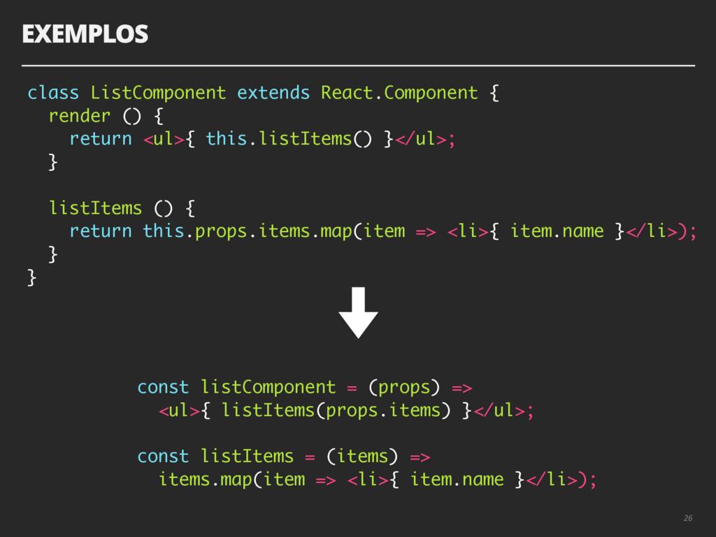 26 class ListComponent extends React.Component ...