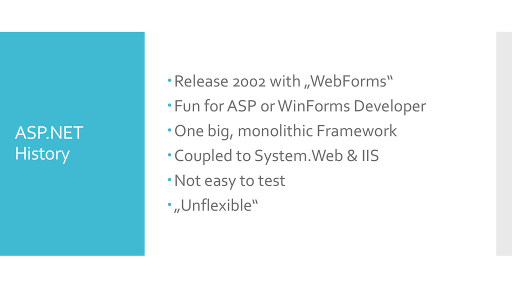 "ASP.NET History Release 2002 with ""WebForms"" ..."
