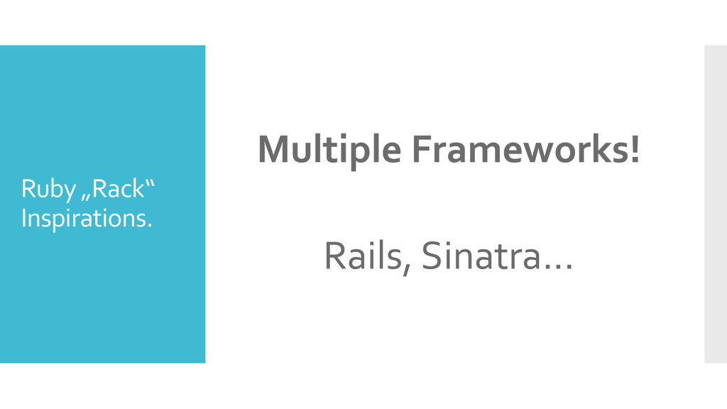 "Ruby ""Rack"" Inspirations. Multiple Frameworks! ..."