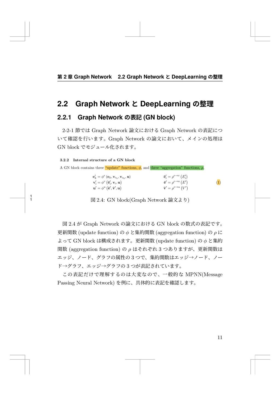 1 1 痥 2 畍 Graph Network 2.2 Graph Network ה Dee...
