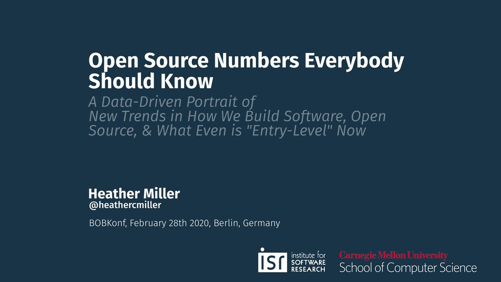Open Source Numbers Everybody Should Know A Dat...