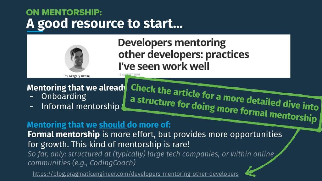 A good resource to start… https://blog.pragmati...
