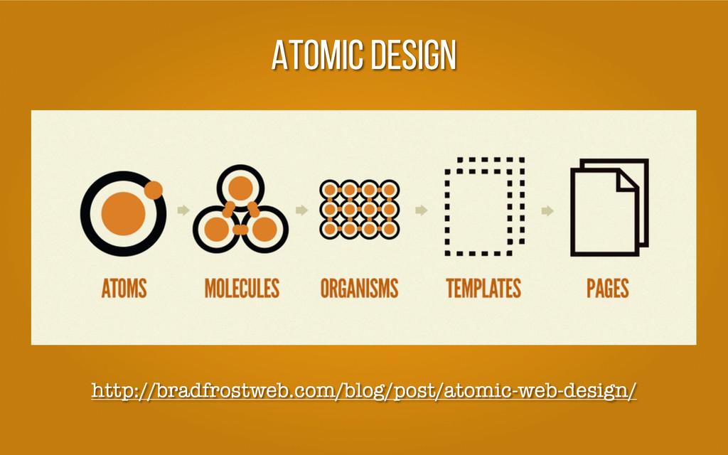 ATOMIC DESIGN http://bradfrostweb.com/blog/post...