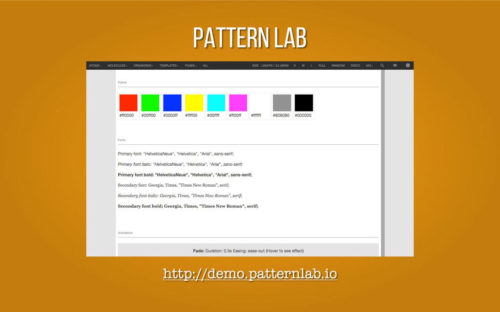 Pattern Lab http://demo.patternlab.io
