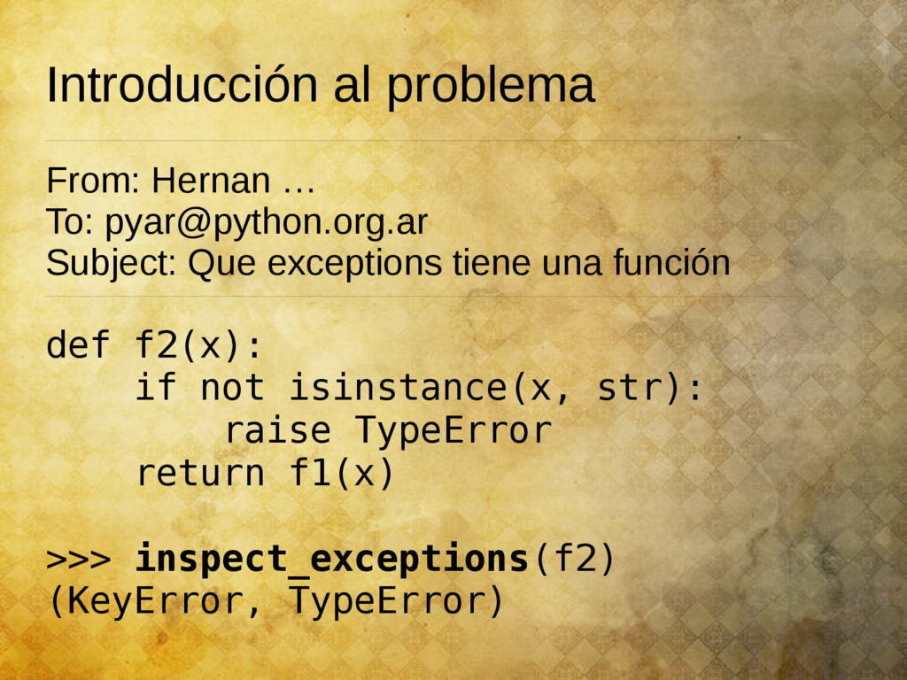 Introducción al problema From: Hernan … To: pya...