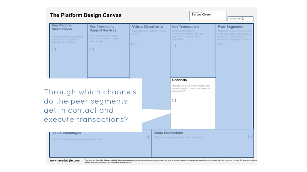 Through which channels do the peer segments get...