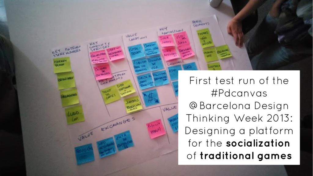 First test run of the #Pdcanvas @Barcelona Desi...