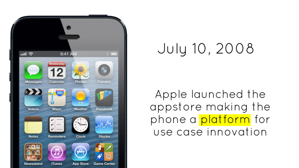 Apple launched the appstore making the phone a ...