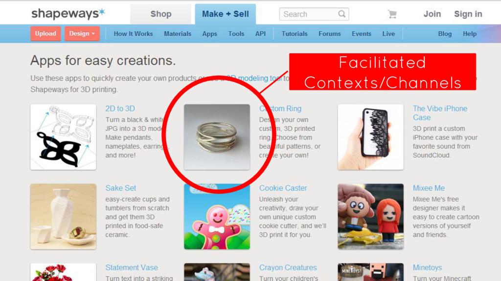 tools Facilitated Contexts/Channels
