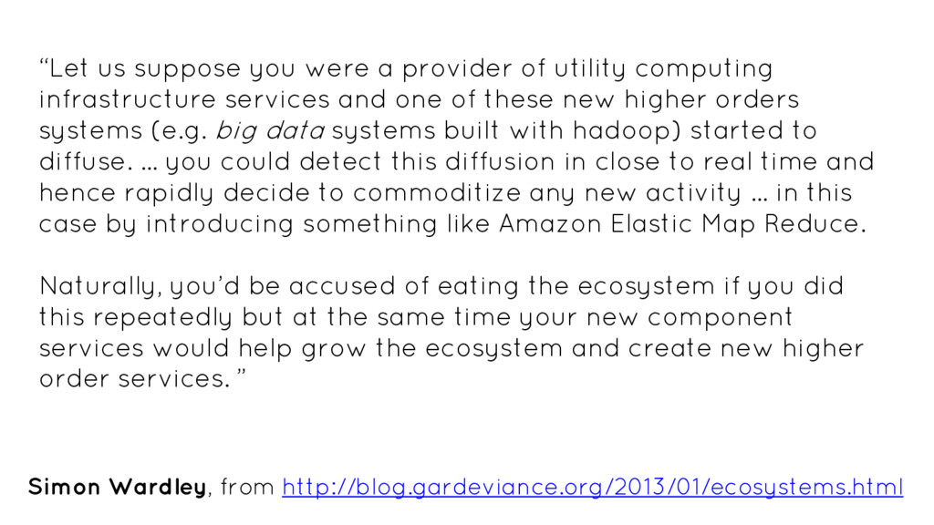 """""""Let us suppose you were a provider of utility ..."""