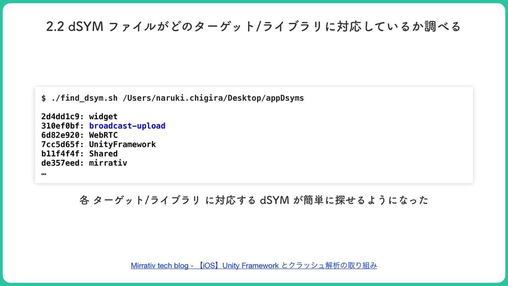 Mirrativ tech blog - ʲiOSʳUnity Framework ͱΫϥογ...