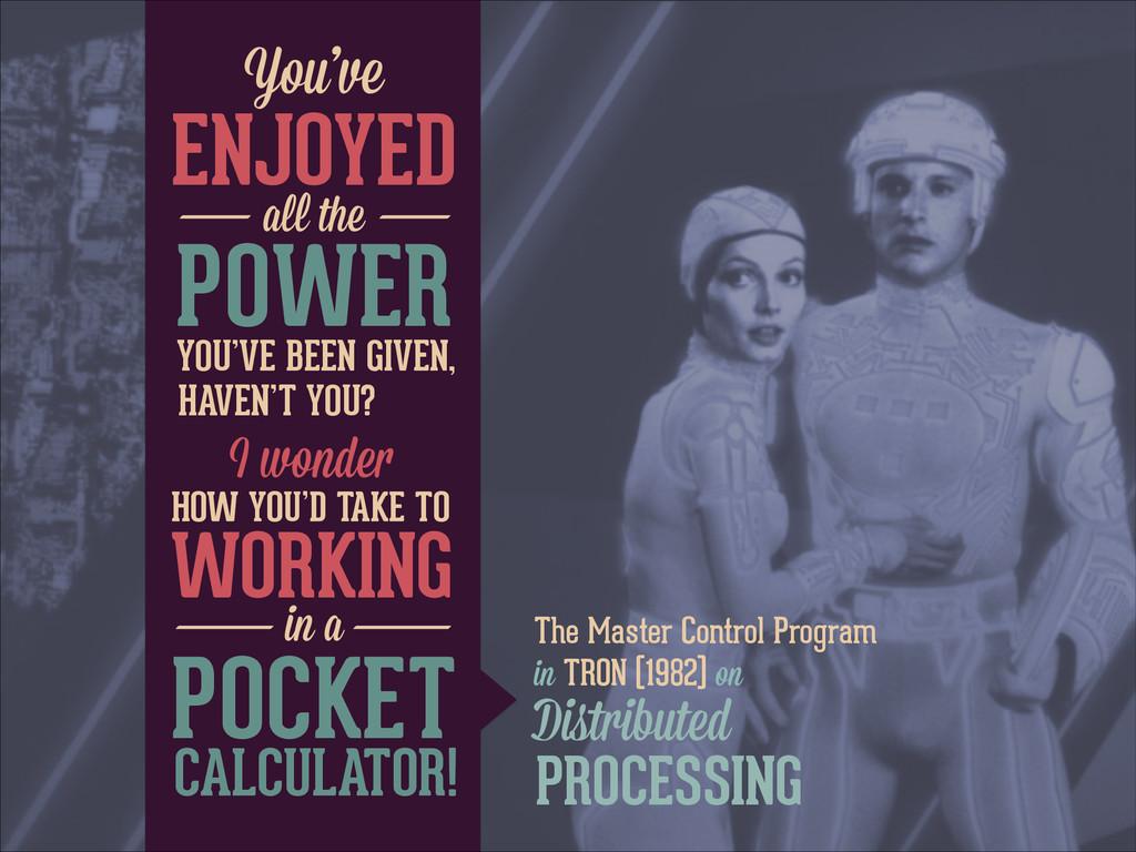 The Master Control Program in TRON (1982) on Yo...