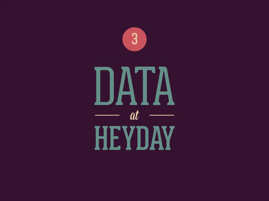 DATA 3 at HEYDAY