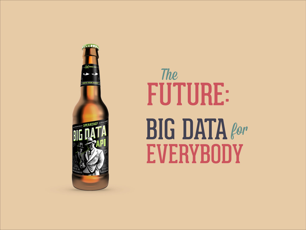 FUTURE: The BIG DATAfor EVERYBODY
