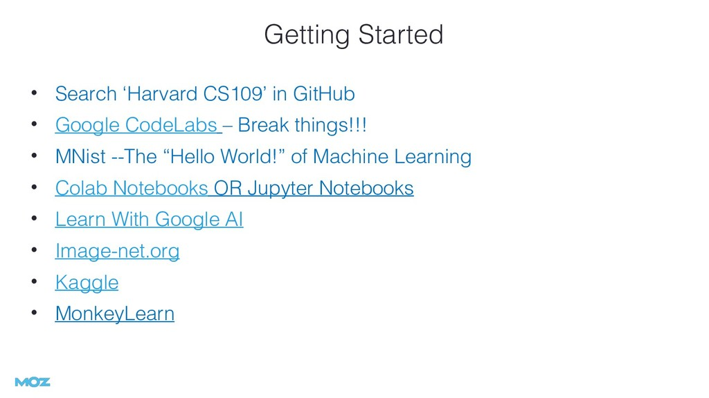 Getting Started • Search 'Harvard CS109' in Git...