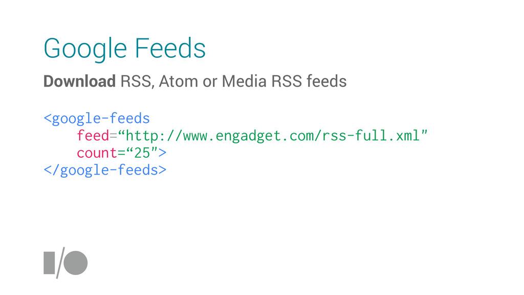Google Feeds Download RSS, Atom or Media RSS fe...