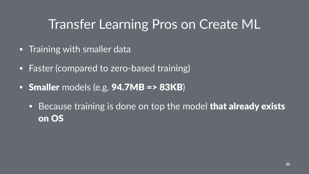 Transfer Learning Pros on Create ML • Training ...