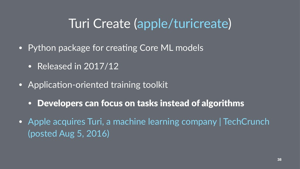 Turi Create (apple/turicreate) • Python package...
