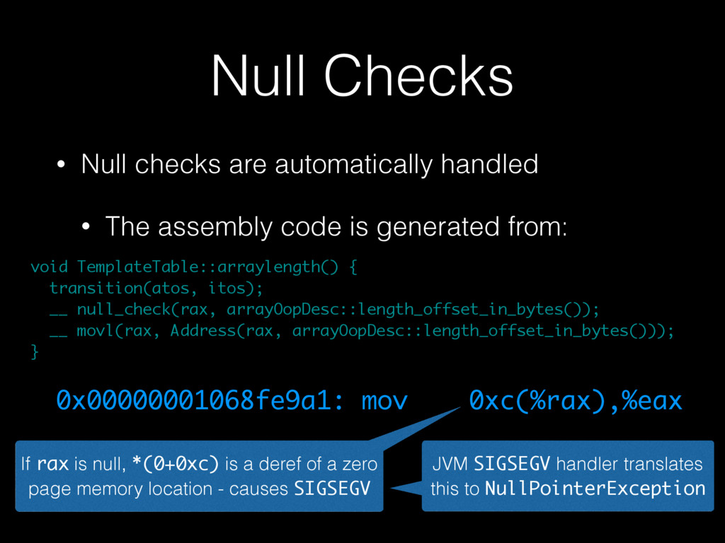 Null Checks • Null checks are automatically han...