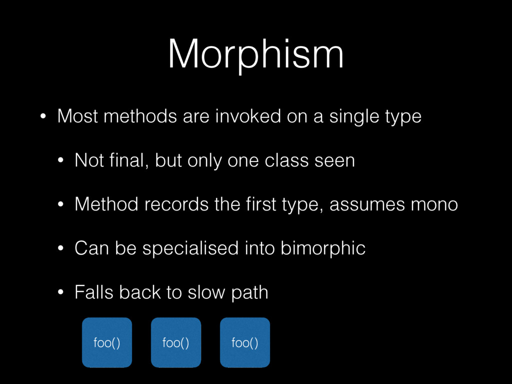 Morphism • Most methods are invoked on a single...