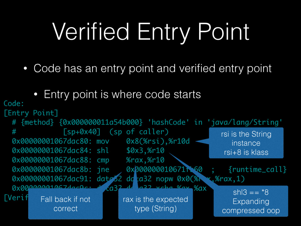 Verified Entry Point • Code has an entry point a...