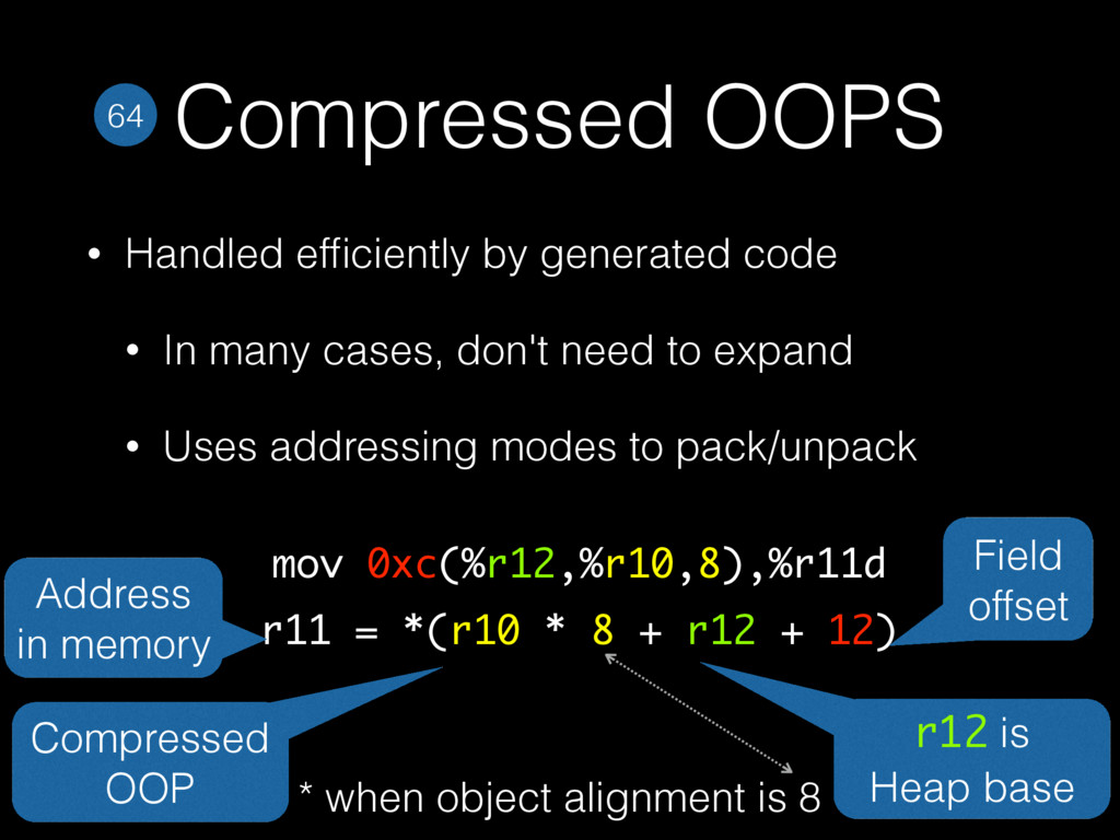 Compressed OOPS • Handled efficiently by generat...