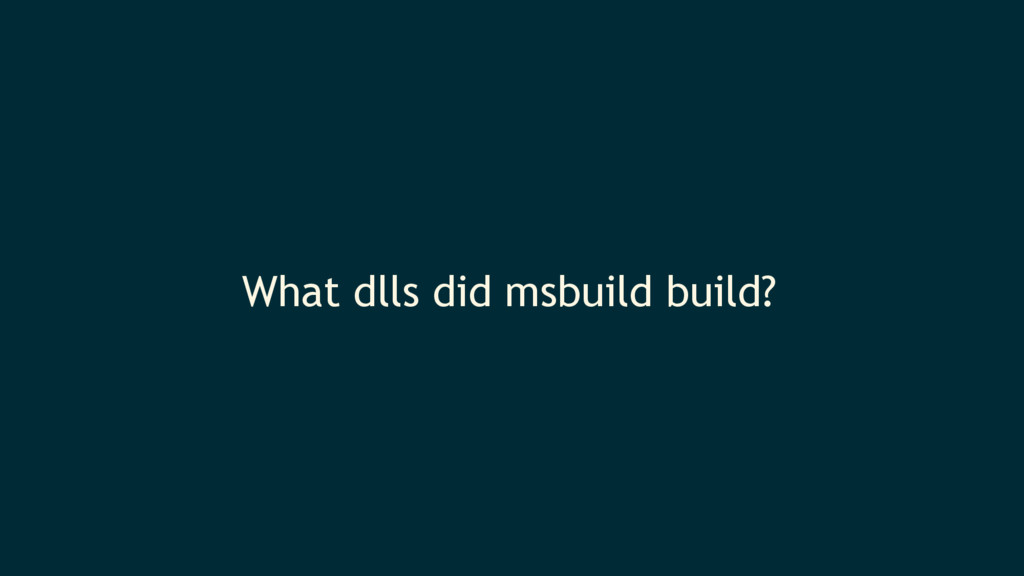 What dlls did msbuild build?
