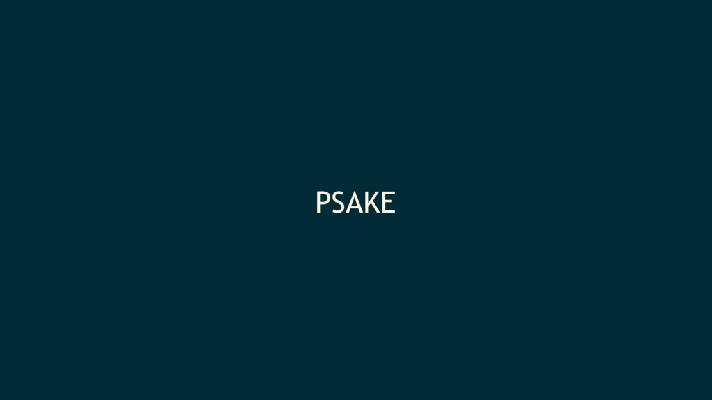 PSAKE