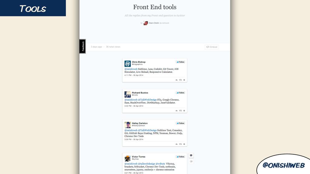 Tools @onishiweb