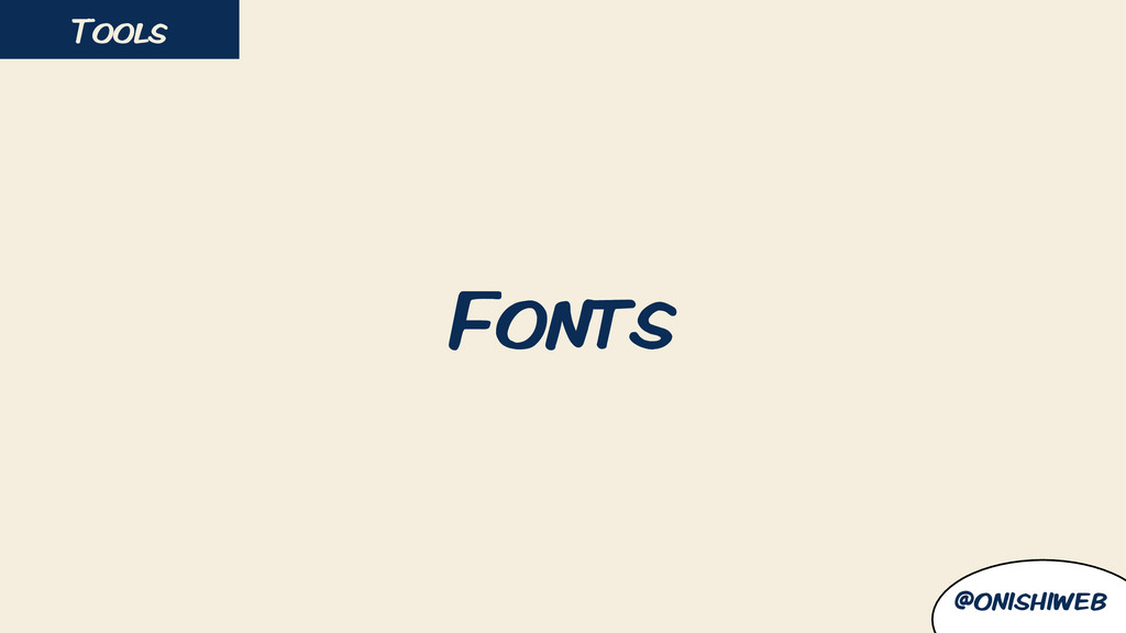 Fonts Tools @onishiweb