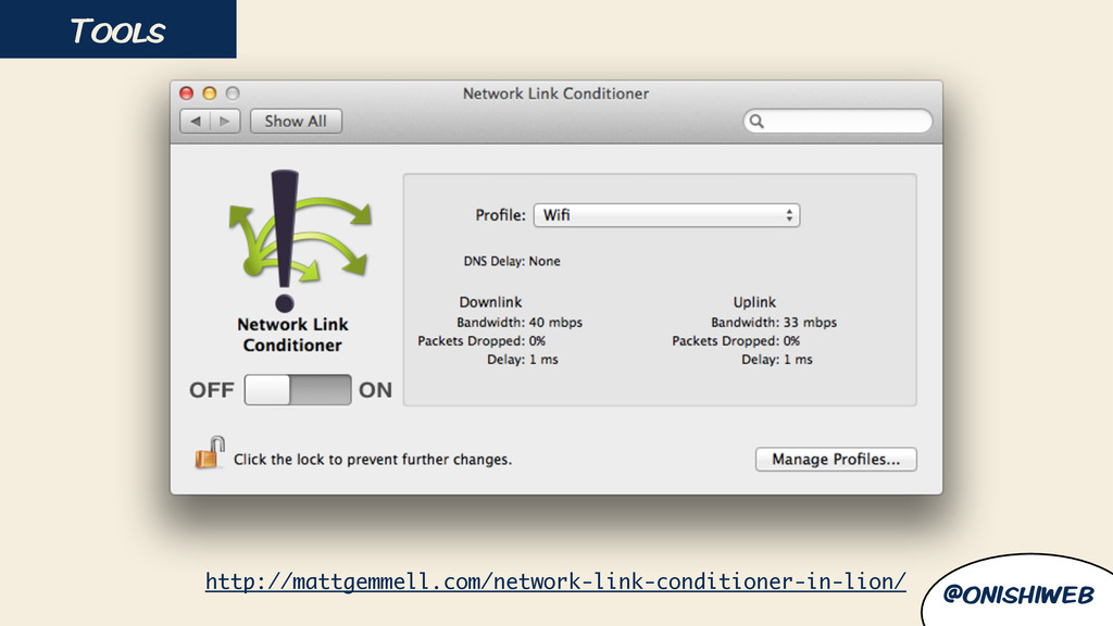 Tools @onishiweb http://mattgemmell.com/network...