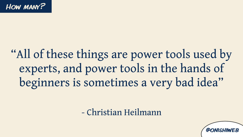 """All of these things are power tools used by ex..."