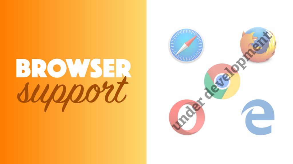 under developm ent BROWSER support